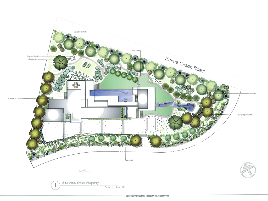 Concept and rendered plans allee landscape design for Garden landscape drawing